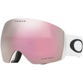 Oakley Flight Deck Snow Goggles Herre matte white/prizm hi pink iridium